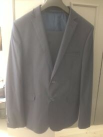 """M&S limited edition superslim suit navy jacket 42"""" Trousers waist 34"""""""