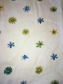 Lemon lined curtains