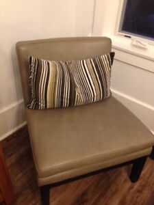 West Elm Leather Slipper Chairs