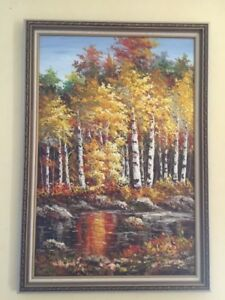 Framed 39x28.5 Oil painting
