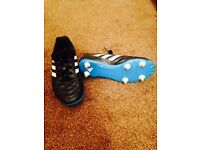 Adidas football boots removable metal stud size 4