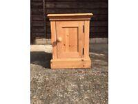 Pine Bedside Table/Cabinet