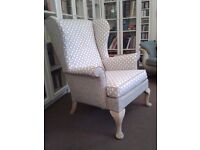 re-upholstered parker knoll chair
