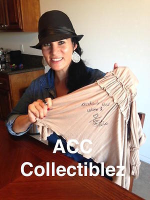 Traci Brooks authentic signed event match worn shirt top **EXACT PROOF** COA