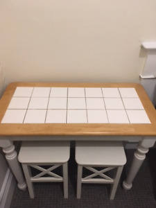 Set of Table and Stools