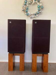Tannoy Mayfair T225 Speakers with Custom Solid Hardwood Stands