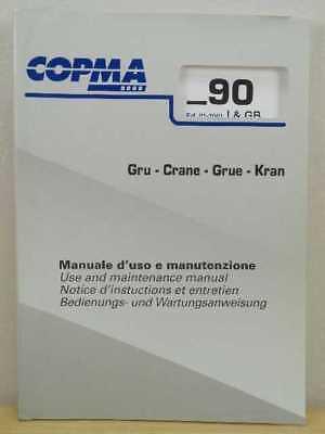 Oem Copma 2000 Model 90 Crane Use And Maintenance Manual