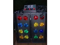 DISCO LIGHTS PACKAGE - PAIR 8s WITH RYGER 4 CHANNEL CONTROLLER- VERY BRIGHT !!!