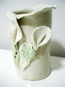 POTTERY CLAY calla lily VASE signed BEAUTIFUL Kitchener / Waterloo Kitchener Area image 3