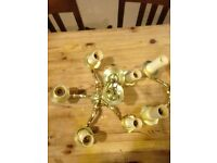 solid brass ceiling lights - 5 arm x 2