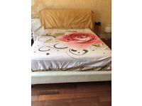 White Leather King Size Bed
