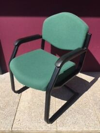 Green cantilever boardroom or visitor chair