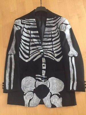 Skeleton Jacket Day Of The Dead Dia de los Muertos Costume Adult Men Custom - Dia De Los Muertos Man Costume