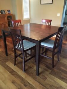 54 x 54 inch dining table and chair set (8 chairs) - $100
