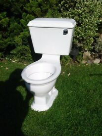 White close coupled toilet in good clean condition.