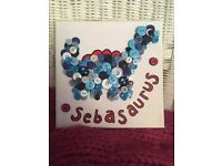 Personalised Button Canvas Art