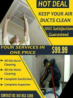 HOT DEAL ONLY $99.99 FOR DUCT CLEANING WITH UNLIMITED VENTS