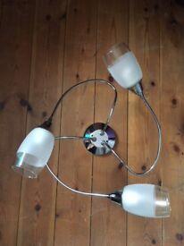 Chrome ceiling light fitting
