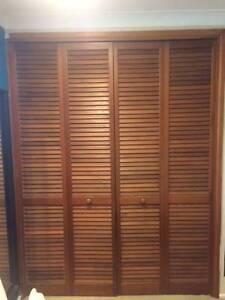 Cedar 4 panel folding wardrobe doors Slacks Creek Logan Area Preview