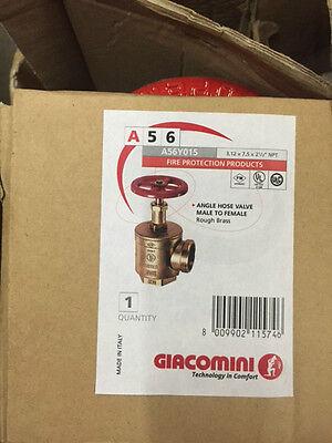 Giacomini Fire Hose Valve A56y015 312 X 75 X 2.5 Npt New