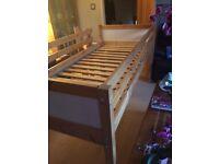 IKEA Children's pine mid sleeper cabin bed