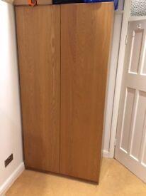 Large oak wooden wardrobe