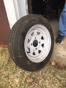 Two brand new utility trailer tires