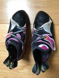 Climbing shoes La Sportiva Solutions female UK 5.5 (EU 38.5) - like NEW (used 2 weeks indoors)