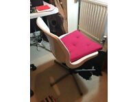 swivel chair ideal for using on a computer desk etc