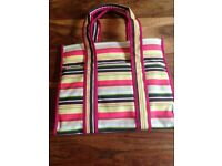 Ollie & Nic striped SHOPPING/BEACH BAG