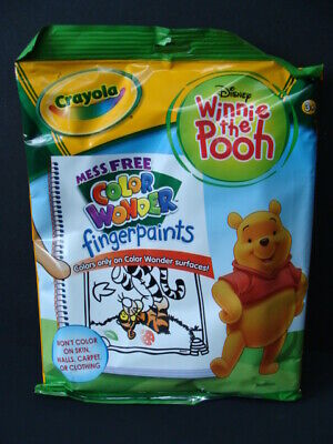 NEW Crayola Color Wonder Fingerpaints Winnie the Pooh Coloring Book 6 Paints NIP Crayola Color Wonder Finger Paints