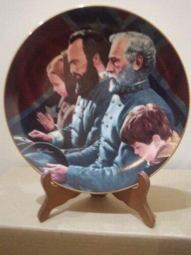 """Danbury Mint  Legends In Gray """"Generals Brought to Tears"""" Plate in Styrofoam"""