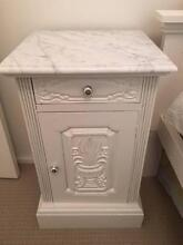 Beside table with drawer and cupboard with marble top Lilyfield Leichhardt Area Preview