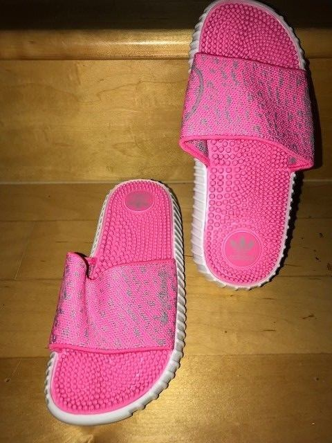 "Adidas ""Boost"" Slides/Sandles--Pink--Women's Small"