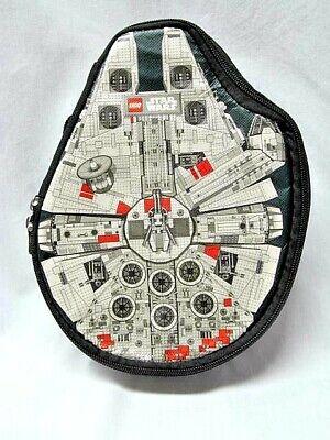 Lego Star Wars Zip Bin Millennium Falcon Figure Storage Carrying Case Han Chewy