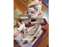SFR Girls adjustable ice skates - adjusts from size 13-3 - vgc as not used much