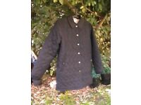 LIZ CLAIBORNE DOUBLE SIDED PADDED QUILTED JACKET PETITE COLLECTION SIZE M BLACK/