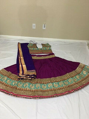 Designer Chaniya choli Ghagra Lengha Blouse Salwar Kameez Sari - Purple