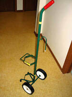 Wheeled Medical Oxygen Tank Caddy For Sale