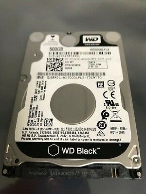 Western Digital BLACK WD5000LPLX 2.5