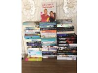 50 mixed books - mainly fiction