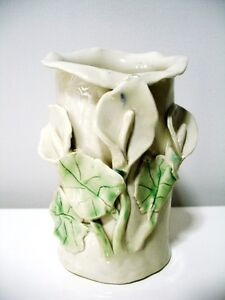 POTTERY CLAY calla lily VASE signed BEAUTIFUL Kitchener / Waterloo Kitchener Area image 2
