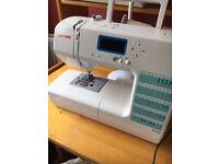janome sewing machine computerised xs50 hardly used still under guarantee