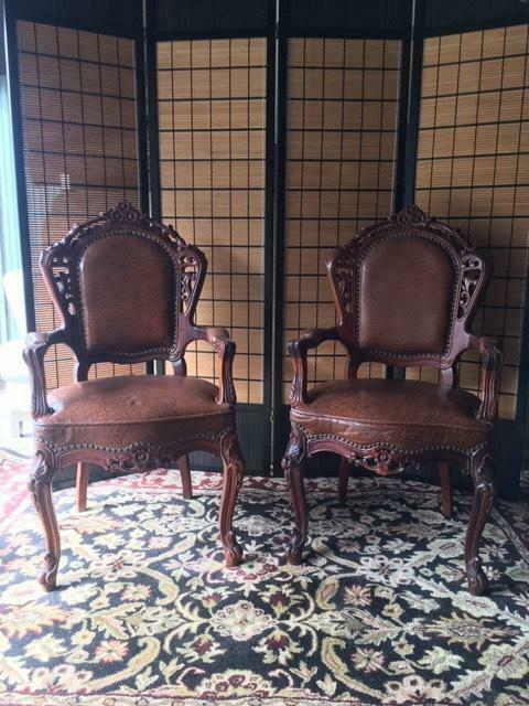 2 Antique Leather Armchairs Delivery | Armchairs | Gumtree ...