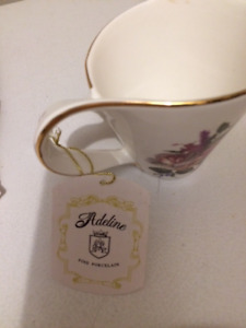 New Vintage Adeline Fine Porcelain Happy Birthday cup and saucer