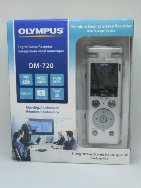Olympus DM-720 Digital Recorder, 4GB, PCM  or MP3 -distresse