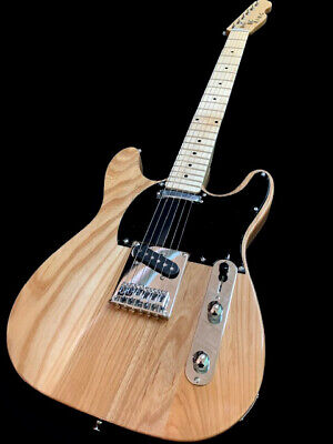 "NEW CUSTOM SOLID ASH RARE ""DOUBLE CUT"" 6 STRING TELE STYLE KING ELECTRIC GUITAR"