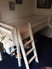 Noa and Nani mid sleeper bed with ladder and slide