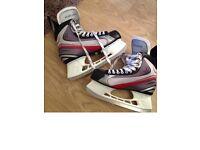 Bauer ice skates size 9.5 (UK) - bargain!!