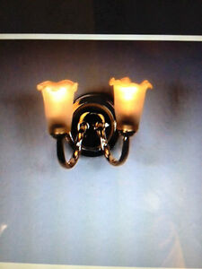 miniature lighting battery operated antique brass wall sconce 1 12